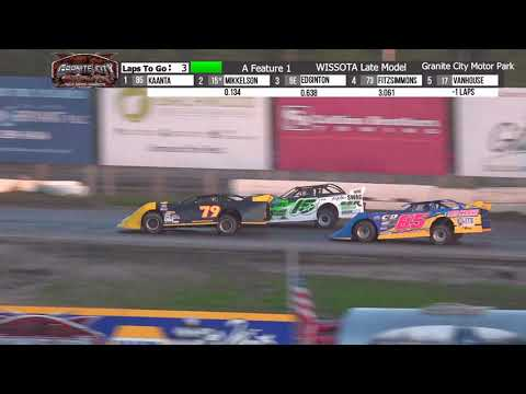 Granite City Motor Park 10/3/21 WISSOTA Late Model Final Laps - dirt track racing video image