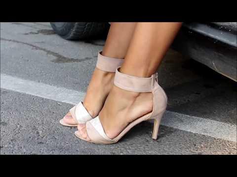 A hot summer & sexy high heels walk by YO & YVonne