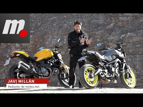 Ducati Monster 821 vs Yamaha MT-09 | Comparativo / Prueba / Test / Review en español | motos.net