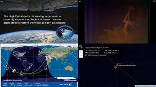 Sunset Over The Pacific - International Space Station NASA Live View With Map - 031 - 2019-08-19