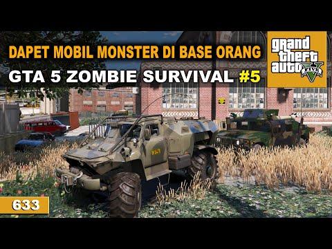 MUSUH BANGUN BASE BARU   GTA 5 ZOMBIE SURVIVAL #633