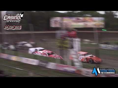Casino Speedway WISSOTA Modified Races (7/25/21) - dirt track racing video image