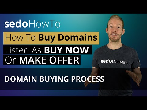 How to Buy A Domain Listed As Buy Now or Make Offer on Sedo