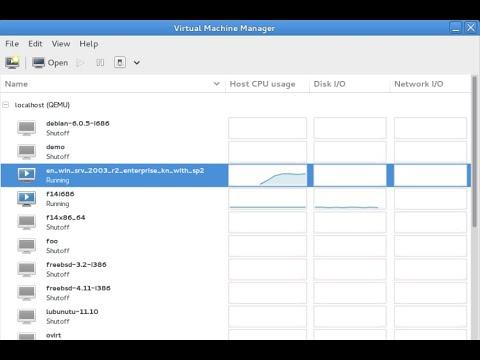 Virtual Machine Manager 1.5.1 Powered by Libvirt