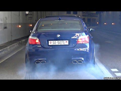 BMW M5 E60 with Eisenmann Race Exhaust INSANE Launches  Burnouts!!