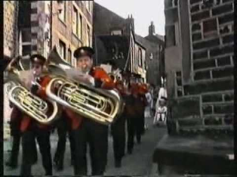 Whit Friday procession in Dobcross 1986
