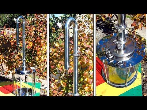 """Обзор и тест дистиллятора """"Алкофан Лайт 1,5 дюйма"""" и стеклянного куба от alcofanshop photo"""