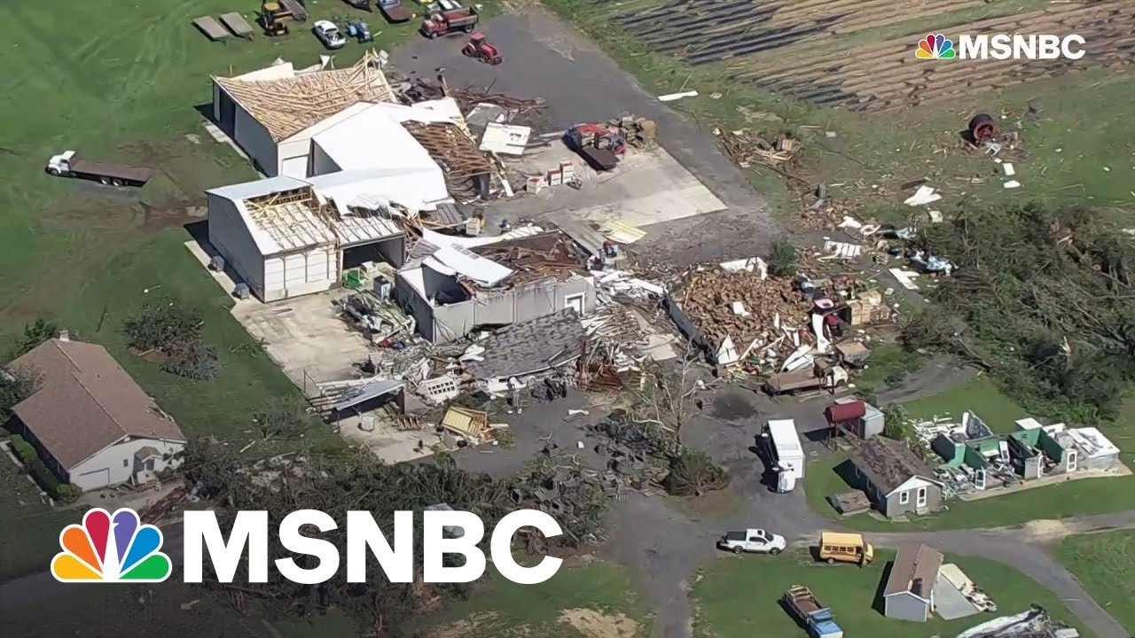 Aerial video shows destruction in Philadelphia area after tornado rips through
