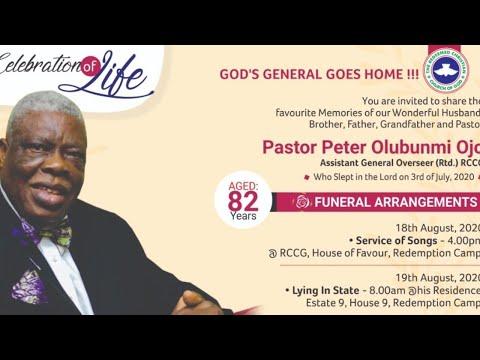 WAKE - KEEP SERVICE FOR PASTOR PETER OLUBUNMI OJO (Rtd AGO)