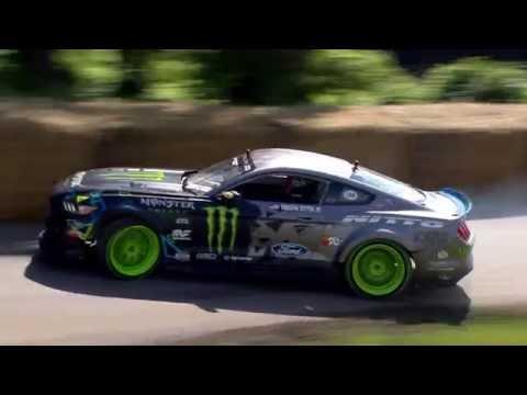 Vaughn Gittin Jnr. drifts the Mustang RTR at Goodwood Festival of Speed