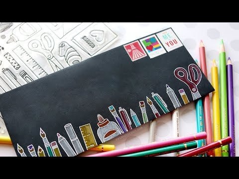 Fun & Easy Envelope for Crafters! (Colored Pencil Coloring)