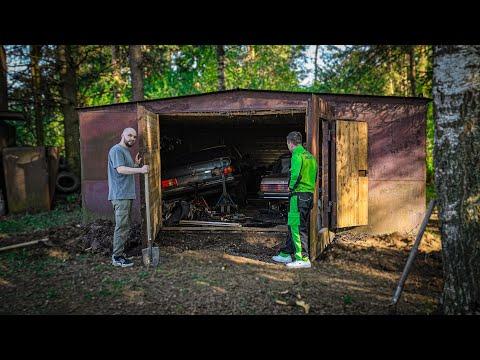 Откопали гараж спустя 18 лет. МЕРСЕДЕС из под ДЕДА
