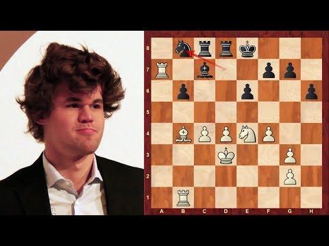 Amazing Chess Game:  Magnus Carlsen vs Yifan Hou Tata Steel (2018)
