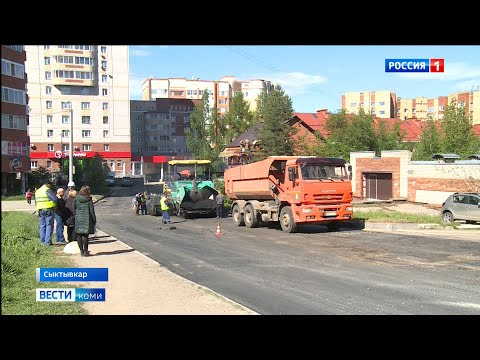 В Сыктывкаре идёт ремонт дороги на пересечении улиц Советской и Горького