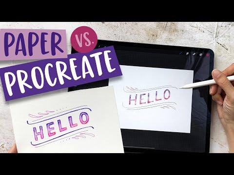 Paper vs. Procreate: Watercolor Block Lettering