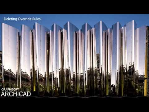 ARCHICAD 20 - Deleting Override Rules