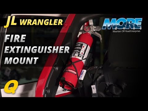 Jeep Wrangler JL Fire Extinguisher Mounting Bracket from Mountain Off Road Enterprises