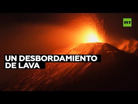 Italia: Imponente y espectacular erupción del volcán Etna
