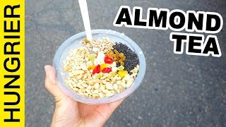 Sticky Chinese Almond Tea + Eating Show | street food in China 2019
