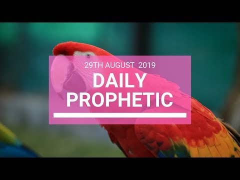 Daily prophetic 29 August 2019  Word 3