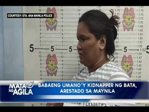Babaeng umano'y kidnapper ng bata, arestado sa Maynila
