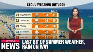 Last bit of summer weather, rain on way_082019