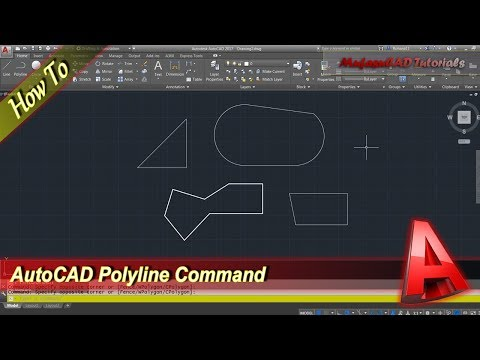 AutoCAD Polyline Command Tutorial For Beginner