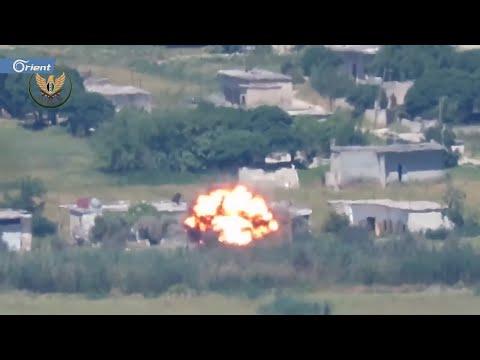 تدمير عربة لميليشيا أسد على جبهة الحويز بريف حماة الغربي