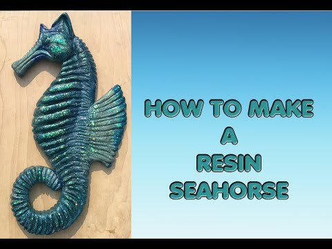 ( 1000 ) How to make a resin mold for a resin seahorse