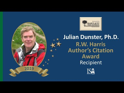 2019 Award of Distinction |  Julian Dunster