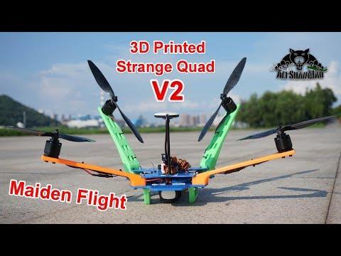 Strange Drones 3D Printed Cruiser Quadcopter V2 Maiden Flight - UCsFctXdFnbeoKpLefdEloEQ