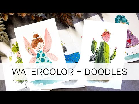 how to create your own DOODLE DOLLIES ** super easy, for all levels !