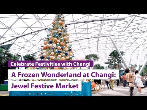 A Frozen Wonderland at Changi (2019): Jewel Festive Market highlights