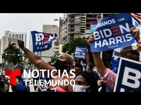 Miles de personas se concentran en el centro de Miami en apoyo a Joe Biden | Noticias Telemundo