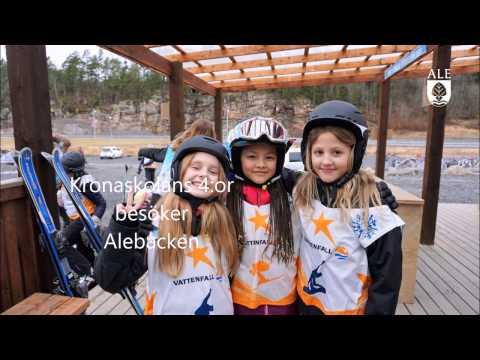 Fjärdeklassare från Ale i Alebacken