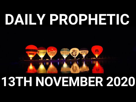 Daily Prophetic 13 November 2020 1 of 12