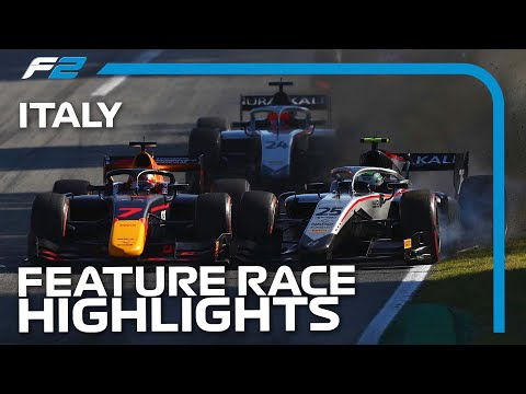 F2 Feature Race Highlights | 2020 Italian Grand Prix