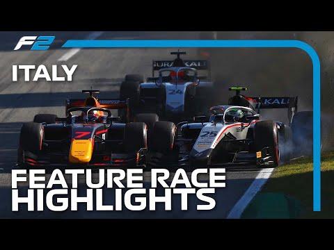 F2 Feature Race Highlights   2020 Italian Grand Prix