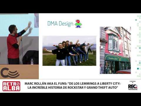 """RETROALBA 2019 """"De los Lemings a Liberty city: La increíble historia de Rockstar"""" por Marc Rollán"""
