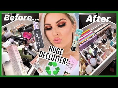 Primers, BB Cream, Setting Spray DECLUTTER! ???? Collection & Organization