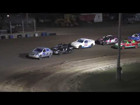 Flinn Stock A-Feature at Crystal Motor Speedway, Michigan on 08-07-2021!! - dirt track racing video image