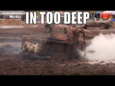 Old Red Truck Gets In Too Deep At Mud Madness Spring Opener 2019