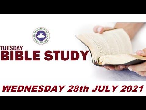 RCCG JULY 28th 2021 BIBLE STUDY
