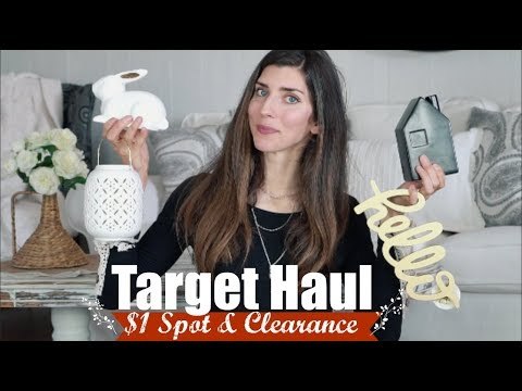 TARGET $1 SPOT + CLEARANCE HAUL | EASTER DECOR  | Momma from scratch