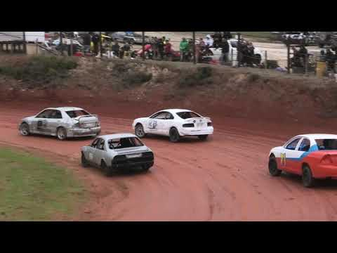 Production Saloons Race 4 Taipa Speedway 2021 - dirt track racing video image