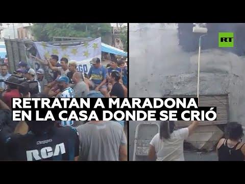 Pintarán un retrato de Maradona en la casa donde se crió