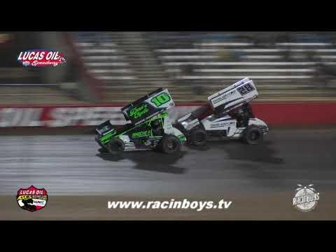 Lucas Oil ASCS Thursday Highlights Hockett McMillin Memorial 9 16 21 - dirt track racing video image