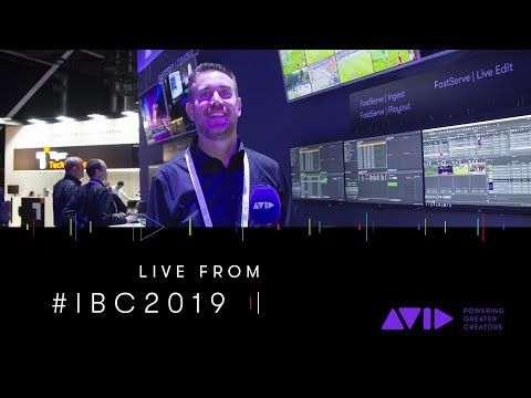 #AVID #IBC2019 LIVE ⏩ Deliver the story first with Avid FastServe video servers