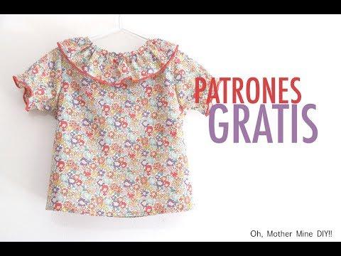 Patrones gratis: blusa tipo liberty para niñas (gratis en varias tallas)