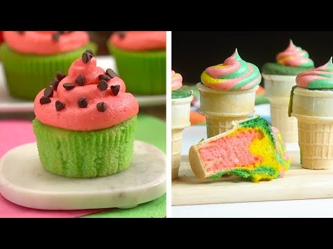 8 Hacks to Create Sweet Treats! | Colorful Ice Cream Cupcakes and Chocolate Desserts by So Yummy